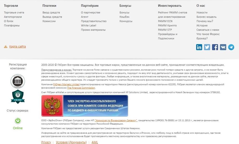 fxopen-комиссия
